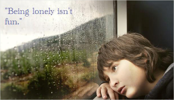Being lonely isn't fun